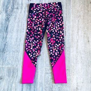 Old Navy Active Girls Go-Dry Pink & Black Leggings